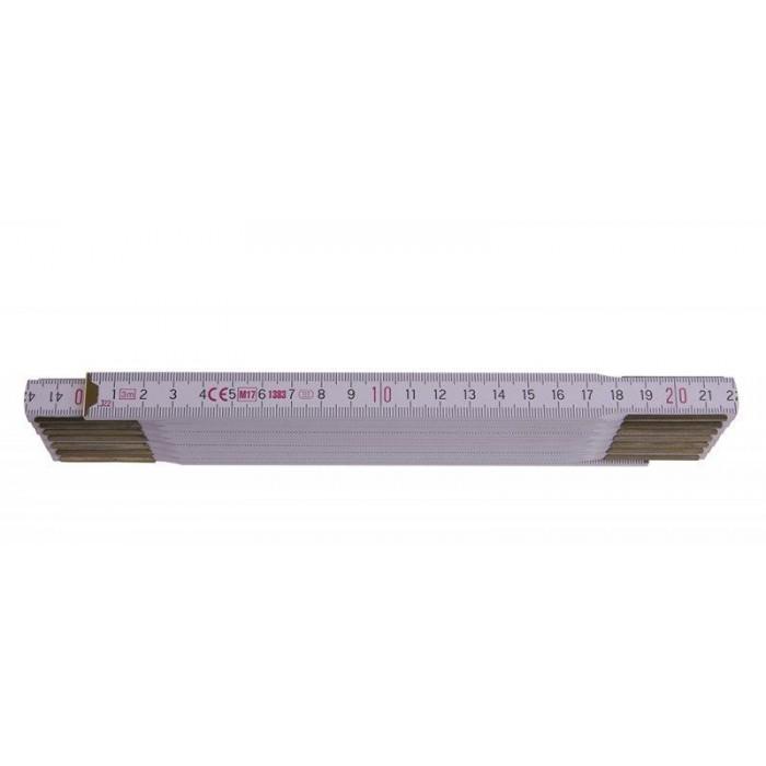 Metr skládací 3m - PROFI dřevo bílý